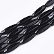 Natural Black Agate Beads Strands(G-T118-19)-1