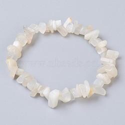 """Bracelets élastiques pierre de lune naturel, nuggets, 2-1/8"""" (5.5 cm)(X-BJEW-JB03681-09)"""