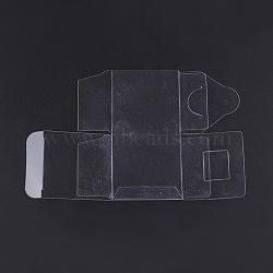 Boîtes d'emballage transparentes en plastique, cube, clair, 15.7x10cm; cube: 5x5x5cm(CON-WH0015-01-5cm)