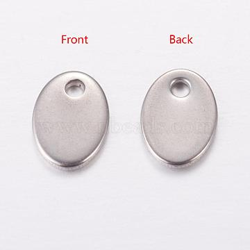 Stainless Steel Color Oval Stainless Steel Charms