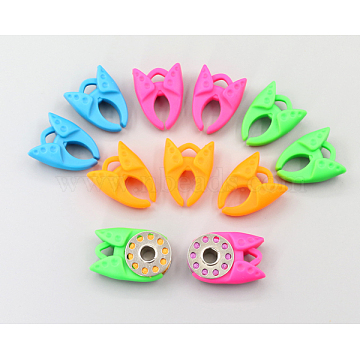 Sewing Thread Bobbins Holders Clips, Silicone, Mixed Color, 30x23mm(TOOL-WH0015-18)