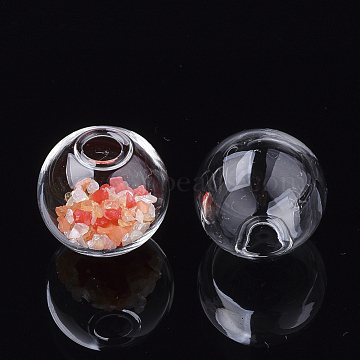 18mm Clear Round Glass Beads