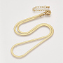 2.5mm Brass Necklaces(KK-T048-38G-NF)