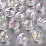 Clear AB Round Acrylic Beads(TACR-S156-004)