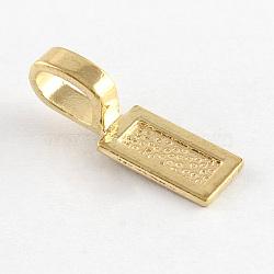 Tapis à coller en alliage de style tibétain, rectangle, sans nickel et sans plomb, or, 26x8x1mm, trou: 8x5 mm; environ 640 pcs / 1000 g(TIBE-4710-G-NR)