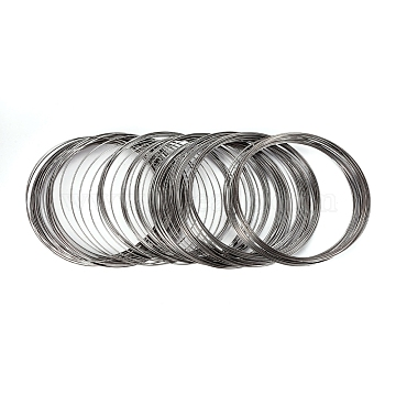 Carbon Steel Memory Wire,for Collar Necklace Making,Necklace Wire,Gunmetal,4-1/2 inches(11.5cm), Wire: 1mm(18 Gauge), about 434 circles/1000g(MW11.5CM-1-B)