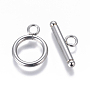 Stainless Steel Color Ring Stainless Steel Toggle Clasps(STAS-I120-11B-P)