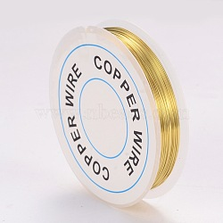 Copper Jewelry Wire, Gold, 0.3mm; 26m/roll(X-CWIR-CW0.3mm-07)