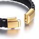 Leather Cord Bracelets(BJEW-E352-11B-G)-3