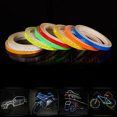 Safety Mark Reflective Tape Crystal Color Lattice Reflective Film(DIY-WH0087-A-M)-4