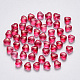 Transparent Spray Painted Glass Beads(X-GLAA-R211-02-B07)-1