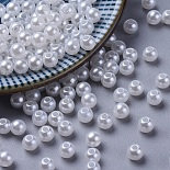 5mm White Round Acrylic Beads(X-PACR-5D-1)