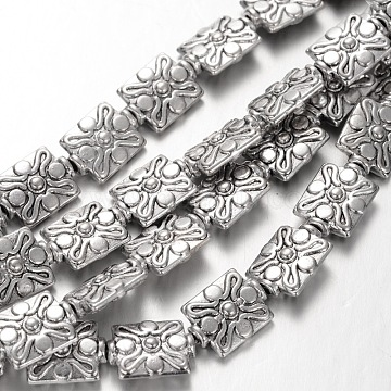 12mm Rectangle Alloy Beads