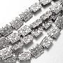 12mm Rectangle Alliage Perles(X-TIBEB-O007-51-NR)