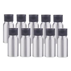 30ml Aluminium Empty Refillable Bottles, with Plastic Flip Cap Lids, for Essential Oils Aromatherapy Lab Chemicals, Black, 8.2x3.2cm, Capacity: 30ml(1.01 fl. oz)(MRMJ-WH0035-03B-30ml)