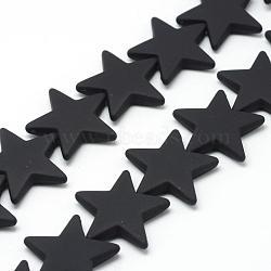 Chapelets de perles en acrylique de style caoutchouté, étoiles, noir, 26x27.5x5.5mm, Trou: 1.5mm(MACR-S857-01)