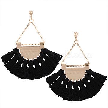 Black Alloy Earrings