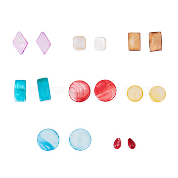 82mm Mixed Color Mixed Shapes Freshwater Shell Beads