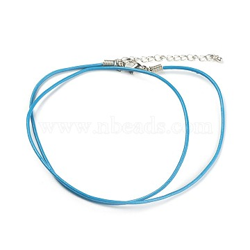 1.5mm DeepSkyBlue Leather Necklace Making