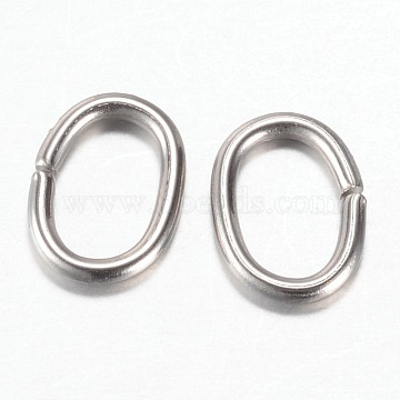304 Stainless Steel Quick Link Connectors, Linking Rings, Oval, Stainless Steel Color, 8x6x1mm, Hole: 3.5x6mm(STAS-P171-72P)