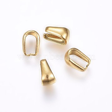 Vacuum Plating 304 Stainless Steel Snap on Bails, Golden, 7x5x4mm, Inner: 6x3mm(X-STAS-P214-06G)