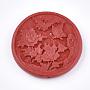 49mm Red Flat Round Cinnabar Beads(X-CARL-T001-03)