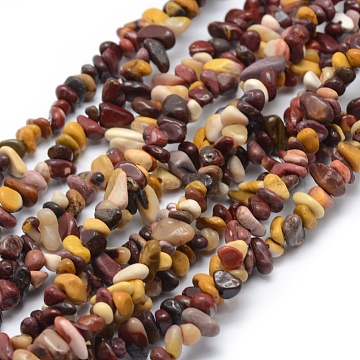 Natural Mookaite Beads Strands, Chip, 3~5mm, Hole: 0.6mm; about 33''(84cm)(G-P332-61)