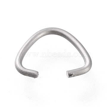 304 Stainless Steel Triangle Rings, Buckle Clasps, Fit for Top Drilled Beads, Webbing, Strapping Bags, Matte Style, Stainless Steel Color, 7x9x0.9mm(STAS-K194-27P)