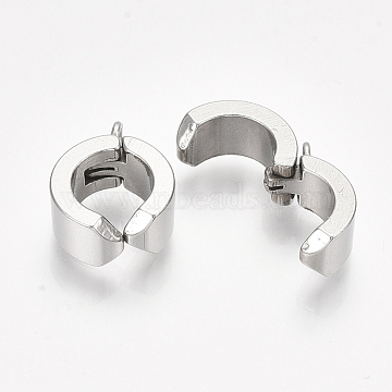 304 Stainless Steel Clasps, Stainless Steel Color, 17.5x13x6mm, Hole: 2mm(STAS-S079-93)
