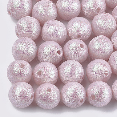 17mm Pink Round Polyester Beads