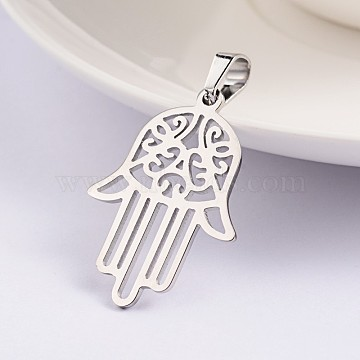 Stainless Steel Color Palm Stainless Steel Pendants