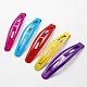 Spray Painted Iron Snap Hair Clip Findings(PHAR-R077-10)-1
