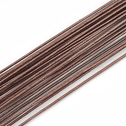 Iron Wire, Floral Wire,  for Florist Flower Arrangement, Bouquet Stem Warpping and DIY Craft, CoconutBrown, 18 Gauge, 1mm; 40cm/strand; 100strand/bag(MW-S002-03B-1.0mm)
