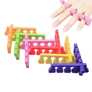 Инструменты для губчатых инструментов, инструменты для ногтей, сплиттер пальца, случайный один цвет или случайный смешанный цвет, 10 см(MRMJ-G007-25A)