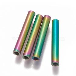 Perles de tube en 304 acier inoxydable, multicolore, 20x3mm, Trou: 1.8mm(STAS-L216-23A-M)