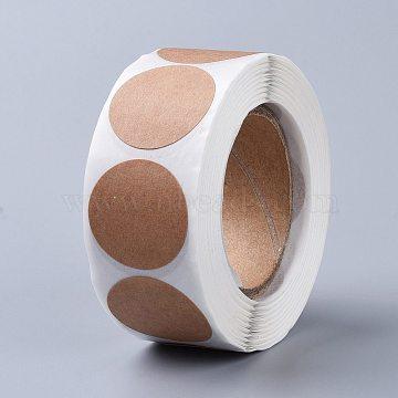 Self Adhesive Kraft Paper Label Tag Stickers, Flat Round, Peru, 25mm; about 500pcs/roll(X-DIY-WH0083-C02)