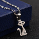 304 Stainless Steel Rhinestone Pendant Necklaces and Stud Earrings Jewelry Sets(X-SJEW-D070-16P)-2