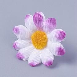 tournesol en tissu de soie, tête de fleur artificielle, pour la décoration de fête de mariage, pourpre, 40x16~17 mm; diamètre intérieur: 2 mm(DIY-WH0134-A14)