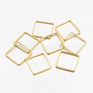 Golden Square Brass Linking Rings