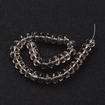 8mm PapayaWhip Abacus Glass Beads