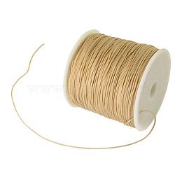 Fil de nylon tressé, burlywood, 0.8 mm; environ 100 mètres / rouleau (300 pieds / rouleau)(NWIR-R006-0.8mm-062)