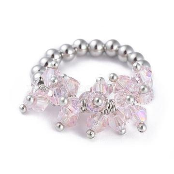Pink Stainless Steel Finger Rings