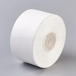Rayon and Cotton Ribbon, Twill Tape Ribbon, Herringbone Ribbon, White, 1inches(25mm); about 50yards/roll(45.72m/roll)(SRIB-F007-000-25mm)