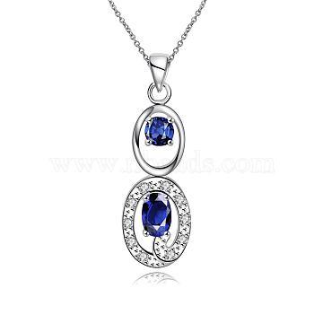 Blue Cubic Zirconia Necklaces