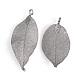 Electroplated Natural Leaf Big Pendants(X-IFIN-Q119-03B)-2