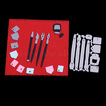 Tool Frame Carbon Steel Cutting Dies Stencils, for DIY Scrapbooking/Photo Album, Decorative Embossing DIY Paper Card, Matte Platinum, 5.1x3.7x0.08cm(DIY-F028-83)