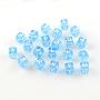 Light Sky Blue Cube Acrylic European Beads(X-OPDL-S079-04)