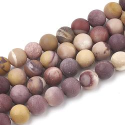 """Chapelets de perles en mookaite naturelles, mat, rond, 10mm, trou: 1.2mm; environ 36 pcs/chapelet, 15.5""""(G-T106-158)"""