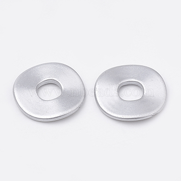 Spray Matte Painted Acrylic Bead Spacers, LightGrey, 24.5x2mm, Hole: 8mm; about 458pcs/500g(ACRP-N001-12B)