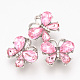 Alloy Rhinestone Snap Buttons(SNAP-T001-10A)-1
